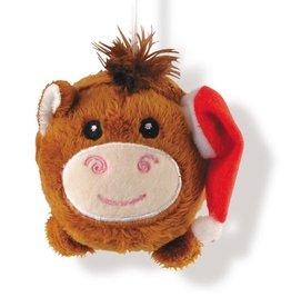 GT Reid Ornament - Plush Silly Santa Horse