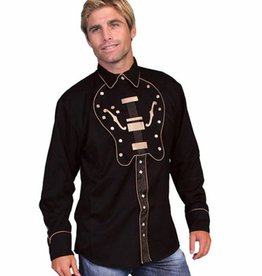 Scully Leather Men's Scully Guitar Bib Shirt