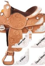 "Silver Royal 15"" FQHB Silver Royal Premium Challenger Show Saddle - V-Silver Trim - (Reg $1095.95 now $200 OFF!)"