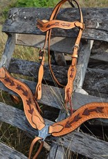Alamo Light Leather Arrow Tool Copper Paint Headstall