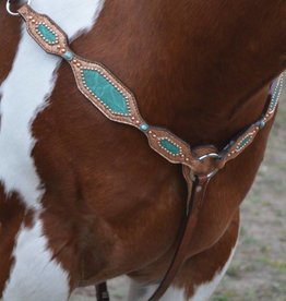 Alamo Breast Collar w/ Copper & Teal