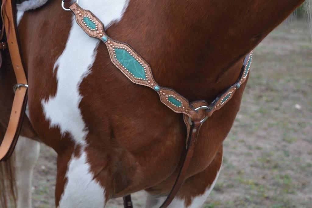 Alamo Breast Collar w/ Copper & Teal