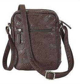 AWST Handbag - Cross Body w/Debossed Lila Horses