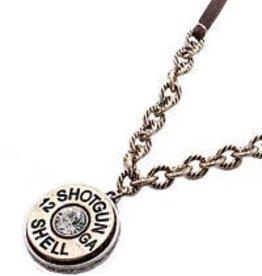 Set - Necklace/Earring - Brass Shotgun Shell