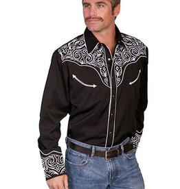 Scully Leather Men's Scully Embroidered Scroll Shirt