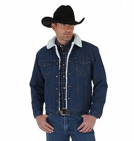 Wrangler Men's Wrangler Sherpa Lined Denim Jacket, Pre-Washed