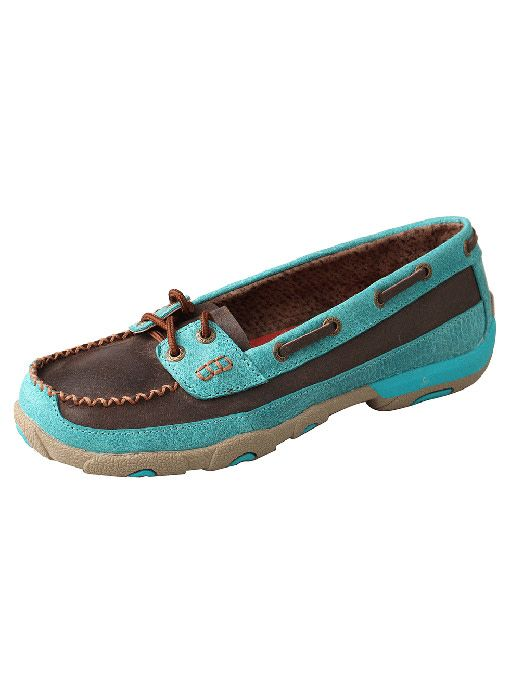 Twisted X Women's Twisted X Driving Moc - Brown/Turq