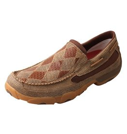 Twisted X Men's Twisted X Driving Mocs, Slip On, Bomber Patch