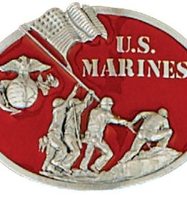 """WEX Belt Buckle - US Marine Red - 3"""" x 2-3/4"""""""