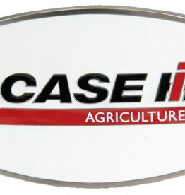 WEX Belt Buckle - Case IH Logo, White Enamel