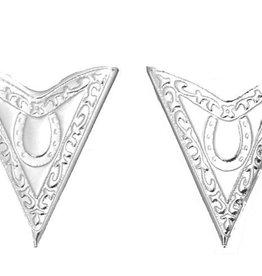 WEX Collar Tips - Silver w/Horseshoe