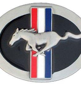"WEX Belt Buckle - Ford Mustang Buckle Pony Enamel - 3.25"" x 2.5"""