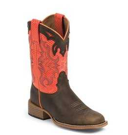 Justin Western Children's Justin Brown Apache Bent Rail Boots - Size 3.5D Only - (Reg $94.95 now 30% OFF!)