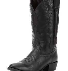 Justin Western Men's Justin Black Deercow Stampede Western Boots