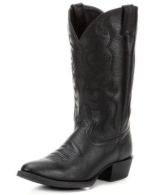 Men S Justin Black Deercow Stampede Western Boots Gass