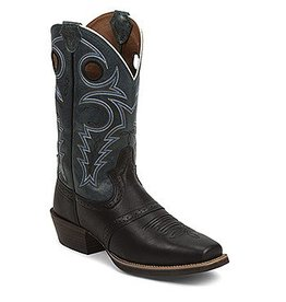 Justin Western Men's Justin Black Silver Collection Boots (Reg $189.95 NOW $55 OFF!)