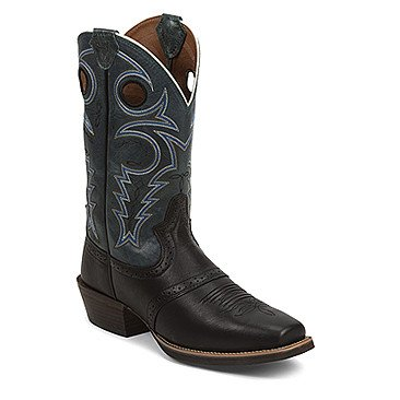 Justin Western Men's Justin Black Silver Collection Boots