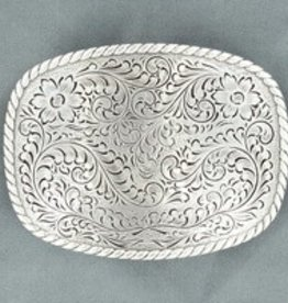 "M & F Belt Buckle - Nocona Floral Rectangle - 2.75"" x 3.75"""