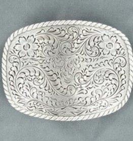 "Nocona Belt Buckle - Nocona Floral Rectangle - 2.75"" x 3.75"""