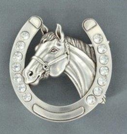 Belt Buckle - Horseshoe Horsehead