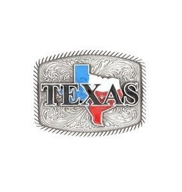 Nocona Belt Buckle- Texas Rectangle