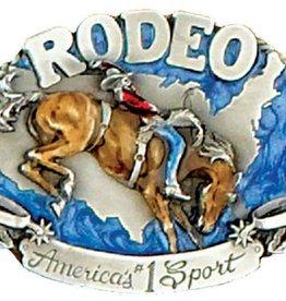 """WEX Belt Buckle - Rodeo - 3"""" x 2 1/4"""""""