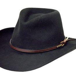 Stetson Stetson Bozeman Crushable Wool Hat, Black