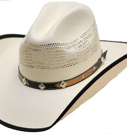 WEX Children's Natural Straw Hat w/Trim on Brim