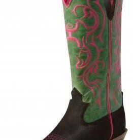 "Twisted X Women's Twisted X Hooey 11"" Boot Brown/Lime"