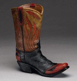 WEX Boot Vase - Flame Design