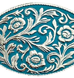 WEX Turquoise Scrolled Belt Buckle