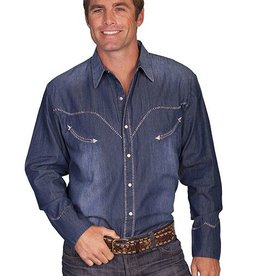 Scully Leather Men's Scully Denim Whip Stitch Shirt - Large
