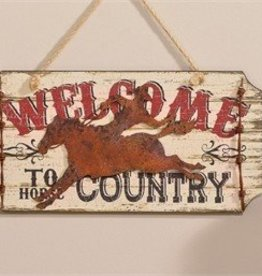 Giftcraft Inc. Welcome to Horse Country Wall Plaque