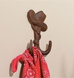 Giftcraft Inc. Cast Iron Cowboy Hay Design Wall Hook