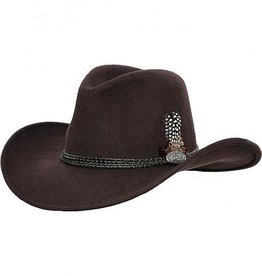 Outback Outback Shy Game Crushable Wool Hat, Brown