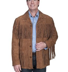 Scully Men's Scully Cinnamon Boar Leather Fringe Jacket