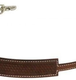 Showman Showman Basket Weave Tooled Wither Strap