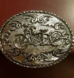 Rockmount Belt Buckle - Motorcycle Silver Bike