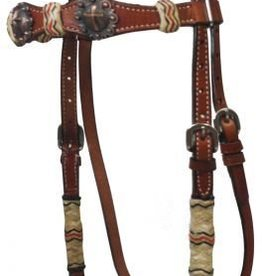 Showman Showman Rawhide Headstall Set