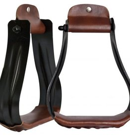 Showman Showman Steel Stirrups Black Adult