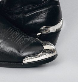 WEX Boot Heel Guards - Silver Engraved