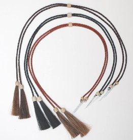 WEX Stampede Strings - Braided Leather with Horsehair Tassels