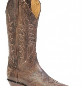 Boulet Western Women's Boulet Snip Toe Western Boot Brown Stitch - Proudly Canadian!! (Reg. $249.95 NOW 25% OFF)