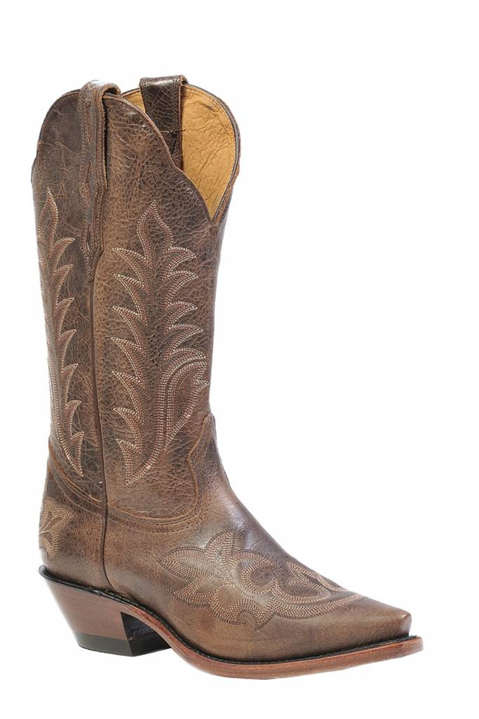Boulet Western Women's Boulet Snip Toe Western Boot Brown Stitch (Reg. $249.95 NOW 25% OFF)