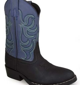 Smoky Mt Monterey Childs Western Boots Black/Blue 2.5