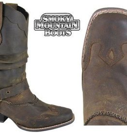 Smoky Mt Ladies Avalon Western Boot Brown 9
