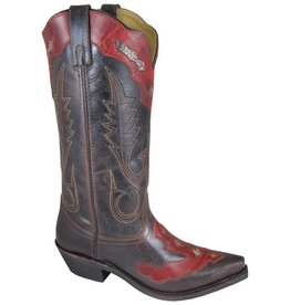 Smoky Mt Vienna Distressed Boot Brown/Red 8.5 M