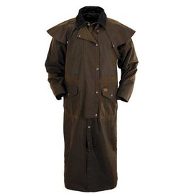 Outback Outback Stockman Oilskin Duster - Brown, Small