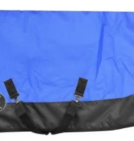 "Showman Showman Pony/Yearling 56""-62"" 1200D Turnout Heavy Blank - Royal Blue/Blacket"