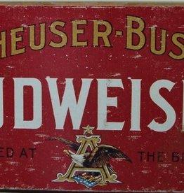 Anheuser-Busch Budweiser - Weathered Sign